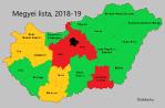 Mennyit kell várni? A megyei lista,2018-2019